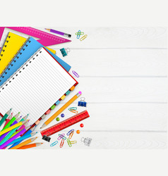 Back to school realistic background vector
