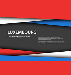 background with luxembourg colors vector image