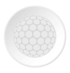 ball for playing golf icon circle vector image