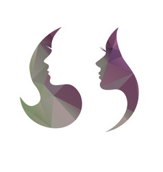 Beautiful womans face profile vector