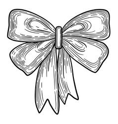 big wedding decor bow icon hand drawn style vector image