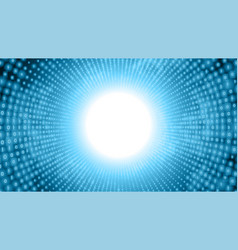 Binary big data stream visualization blue tunnel vector