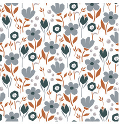 bold abstract seamless pattern with flowers vector image
