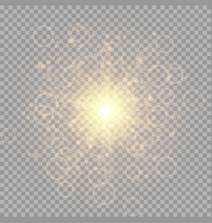 bright flash of a golden star vector image