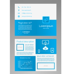 Business brochure template - blue and white vector