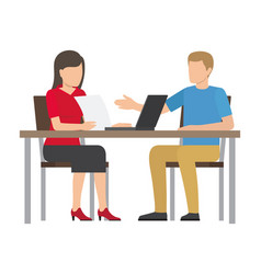 business meeting people vector image
