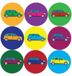 Car icon Flat design style vector