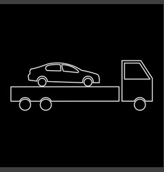 car service the white path icon vector image