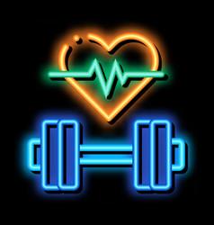 Cardio training biohacking neon glow icon vector