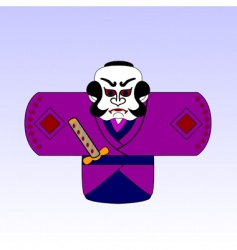 Cartoon samurai vector