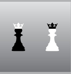 chess pawn crowns vector image