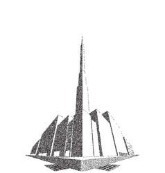 city block perspective stipple vector image