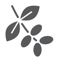 Coffee tree branch glyph icon coffee and cafe vector