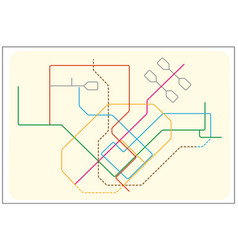 colored subway map singapore vector image