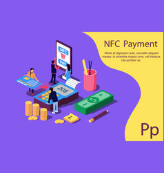 Concept online and mobile payments for web page vector