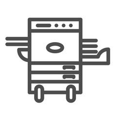 Copier printer line icon multifunction laser vector