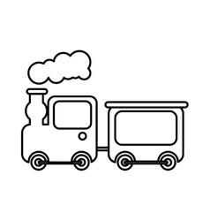 Cute train toy icon vector