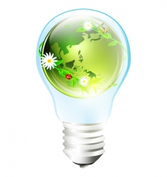 eco earth bulb vector image