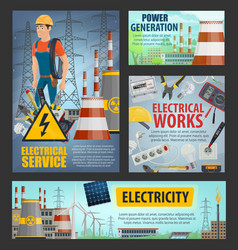 Electrical service electricity power generation vector