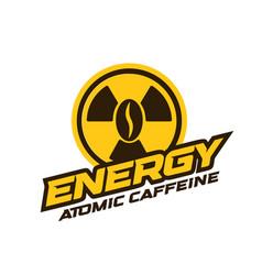 energy drink logo modern concept atomic caffeine vector image
