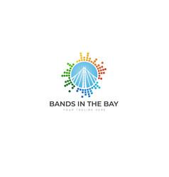 equalizer bands in bay logo vector image