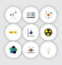Flat icon knowledge set of scope electrical vector