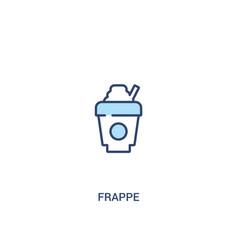 Frappe concept 2 colored icon simple line element vector
