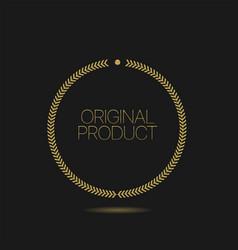 goldel laurel wreath original product label icon vector image