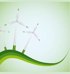 Green energy wind turbines generator vector