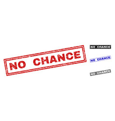 grunge no chance textured rectangle stamp seals vector image
