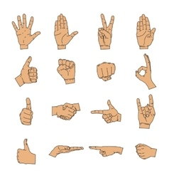 Hand icon silhouette collection vector image
