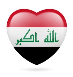 Heart icon of Iraq vector image