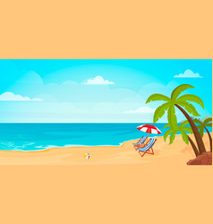 hello summer relaxing scene on a breezy day deck vector image