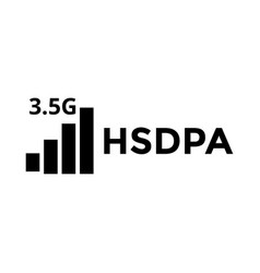 hsdpa signal icon design template isolated vector image