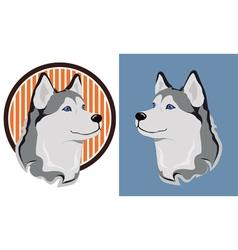 Husky dog vector