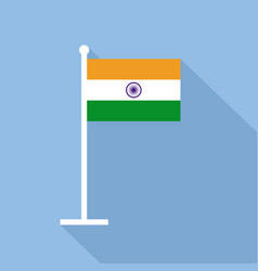India national flag flat icon vector