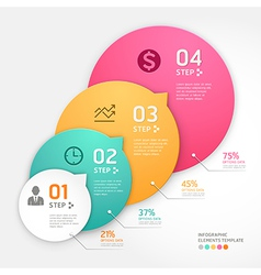 infographics business steb vector image