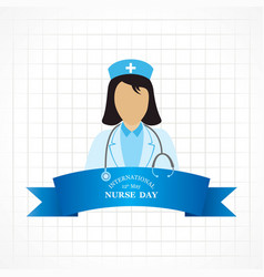 international nurse day stock image vector image