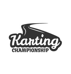 karting club or kart races championship track vector image
