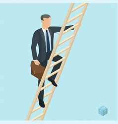 Ladder to success vector
