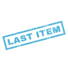 Last Item Rubber Stamp vector image
