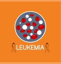 Leukemia icon vector