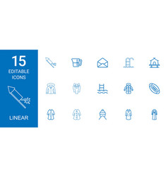 Linear icons vector