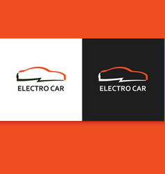 Logo of electro car in colorful style vector