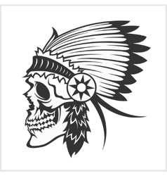 native american indian chief headdress mascot in vector image