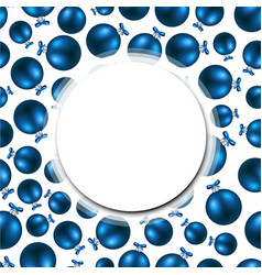 new year background with blue balls vector image