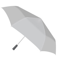 Open automatic umbrella mockup realistic style vector