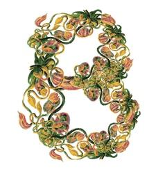 Organic letter B vector image
