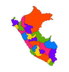 Political map of peru vector