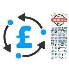 Pound Rotation Icon With 2017 Year Bonus Symbols vector